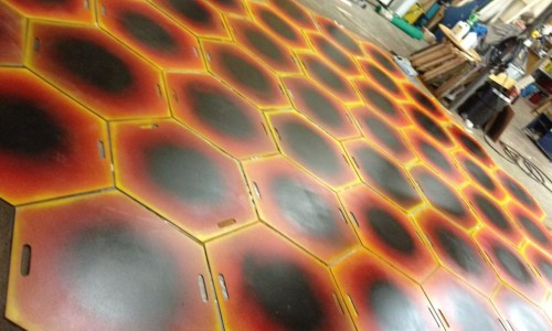 Finishing – Honeycomb Floor