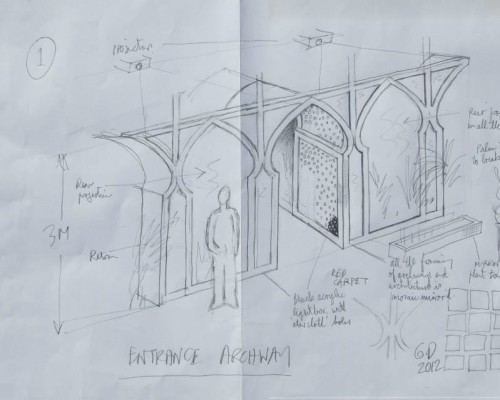 Tecnical Drawing & Project Management – Arabian Party Initial Sketch
